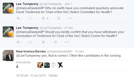 Irranca-Davies tweet